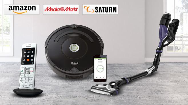 Amazon, Media Markt, Saturn: Die Top-Deals des Tages!©Amazon, Media Markt, Saturn, iRobot, Rowenta, Gigaset, iStock.com/asbe