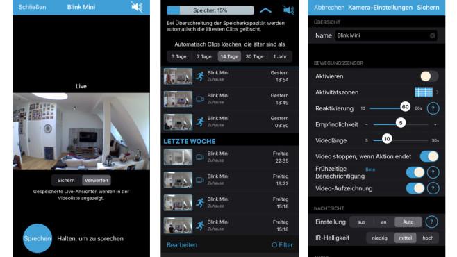 Blink Mini: App-Screen©Blink, COMPUTER BILD