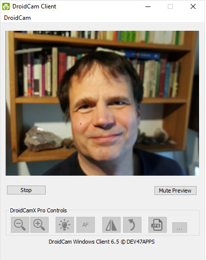 Screenshot 1 - DroidCam Client