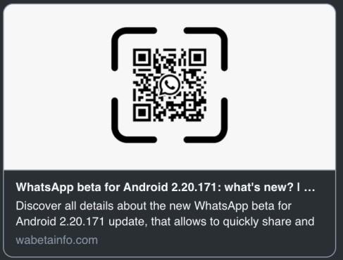 Wabetainfo WhatsApp Beta QR-Code©https://wabetainfo.com/