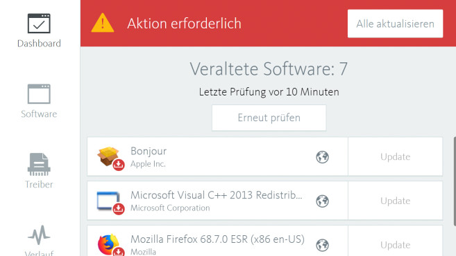 Avira Software Updater©Avira