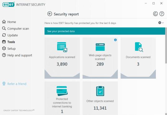 ESET Internet Security: Echtzeitschutz und Bedrohungsscan©ESET Internet Security