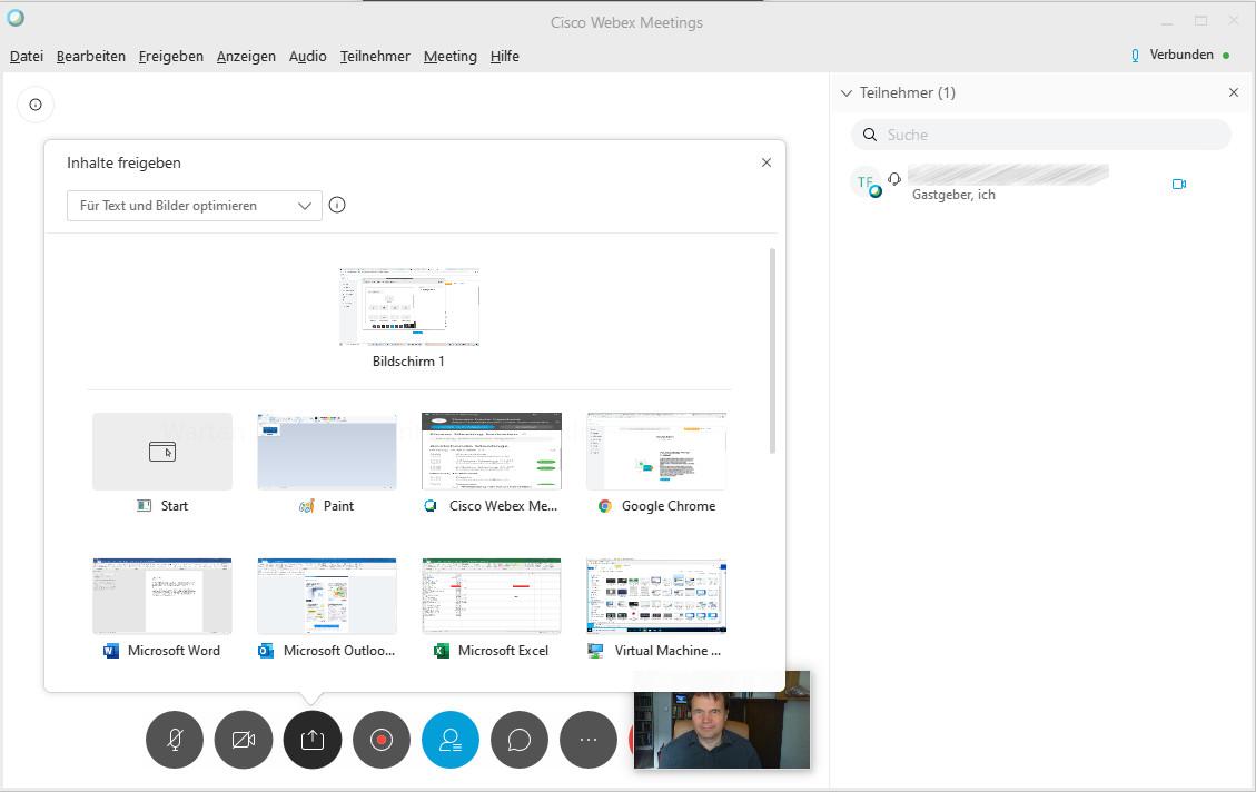 Screenshot 1 - Cisco Webex Meetings