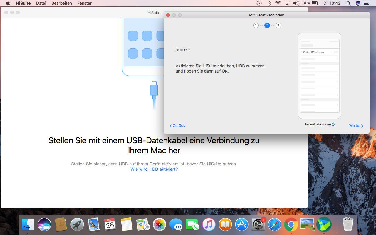 Screenshot 1 - Huawei HiSuite (Mac)
