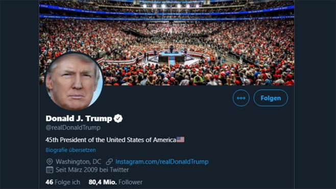 Donald Trump auf Twitter©Twitter