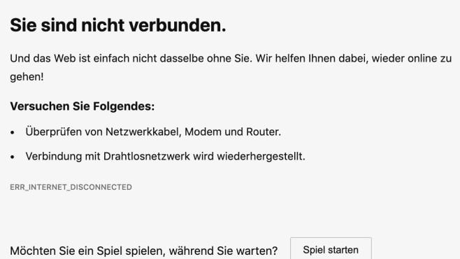 Fehlermeldung: Sie sind nicht verbunden©Microsoft, COMPUTER BILD