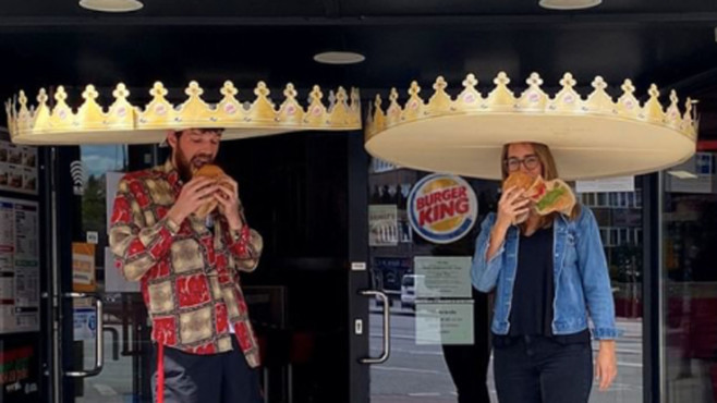 Burger King: Social-Distancing-Krone © Instagram / Burger King