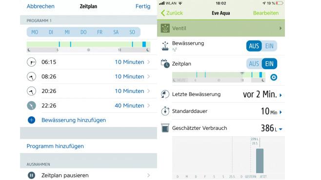 Eve Aqua: Zeitpläne in der App©COMPUTER BILD, Ingolf Leschke