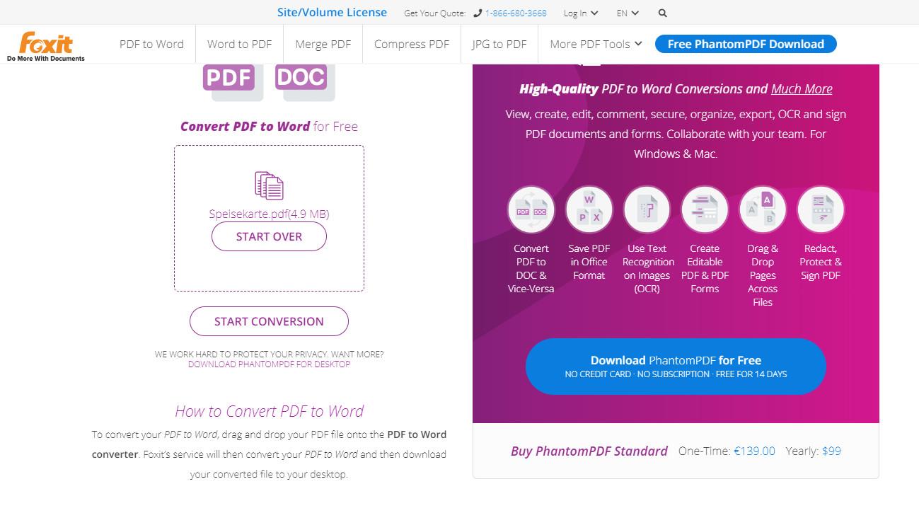 Screenshot 1 - Foxit Online-PDF-Tools