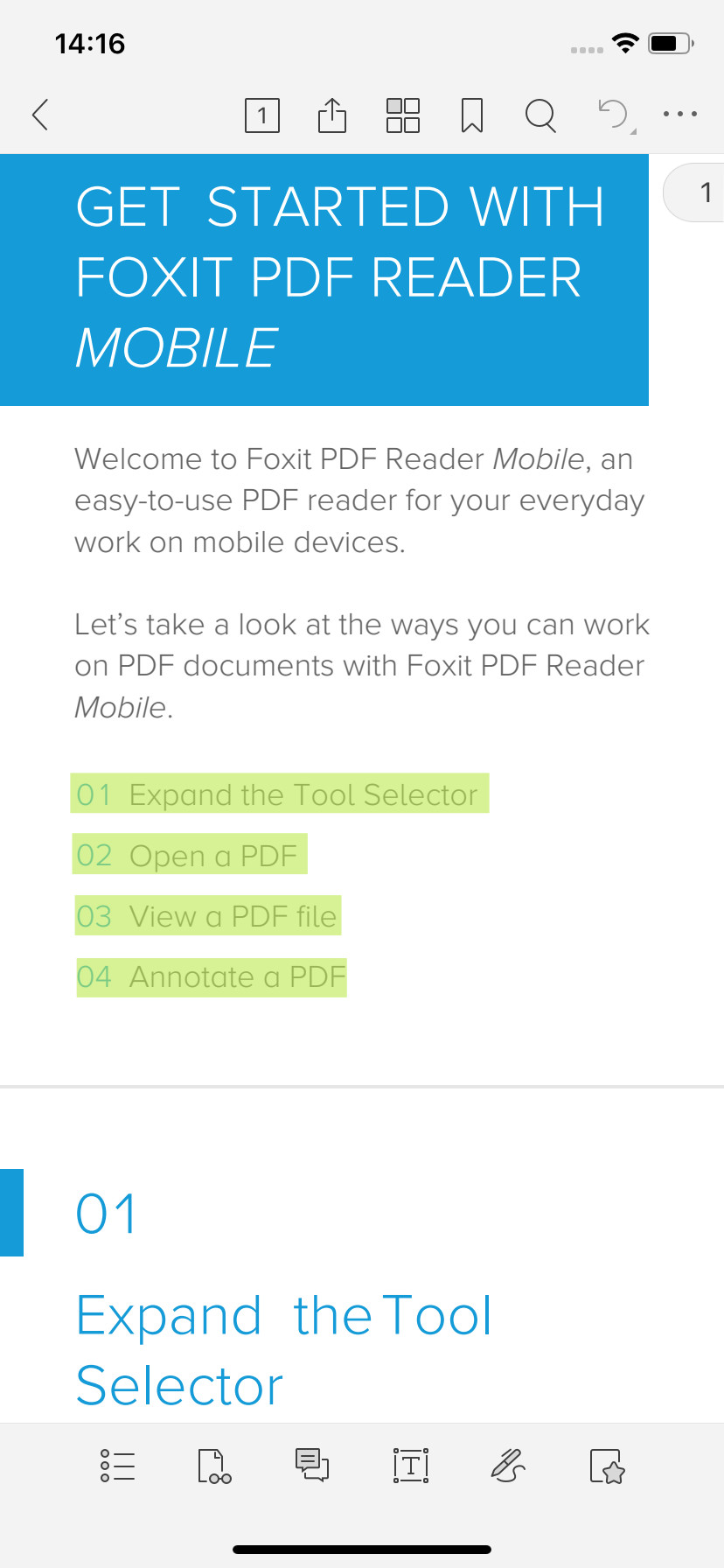Screenshot 1 - Foxit PDF Reader & Editor (App für iPhone & iPad)