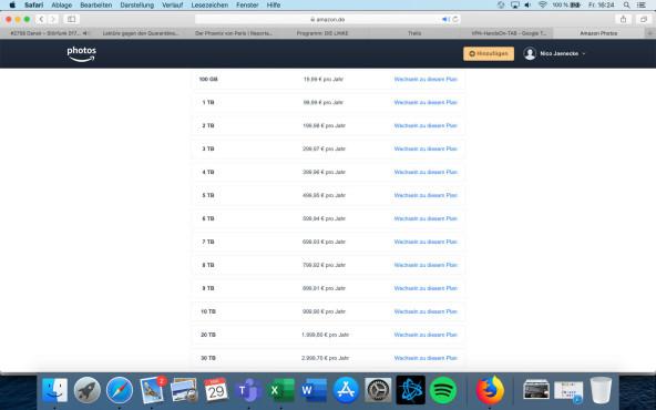 Amazon Drive Preise