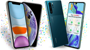 Apple iPhone und Huawei P30 bei Sparhandy © Sparhandy