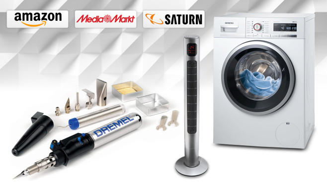 Amazon, Media Markt, Saturn: Die Top-Deals des Tages! © Saturn, Media Markt, Amazon, Siemens, Dremel, Koenic, iStock.com/AlexeyVS