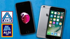 iPhone bei Aldi©Aldi Nord, Aldi Süd, Apple, iStock.com/Ajwad Creative