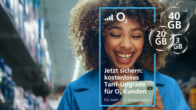 O2: Kostenfreies Tarif-Upgrade © O2