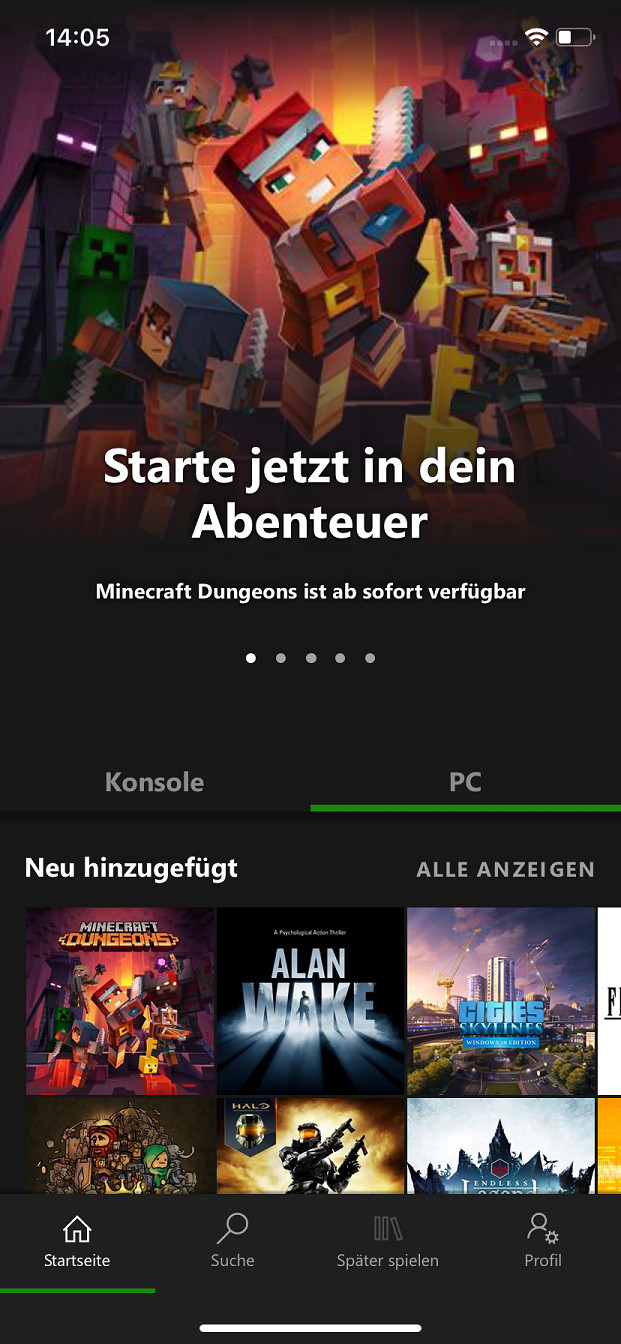 Screenshot 1 - Xbox Game Pass (App für iPhone & iPad)