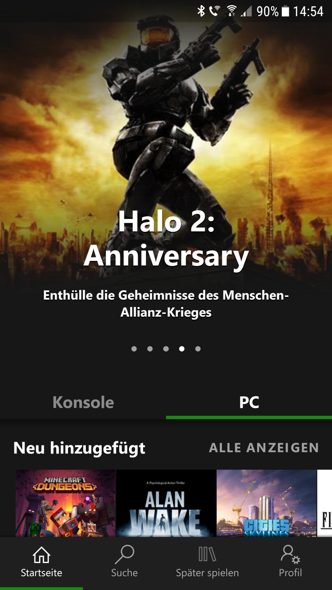 Screenshot 1 - Xbox Game Pass (Android-App)