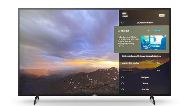 Der Sony XH8096 zeigte im Test die beste Bildqualität im Anwender-Modus.©Sony, COMPUTER BILD