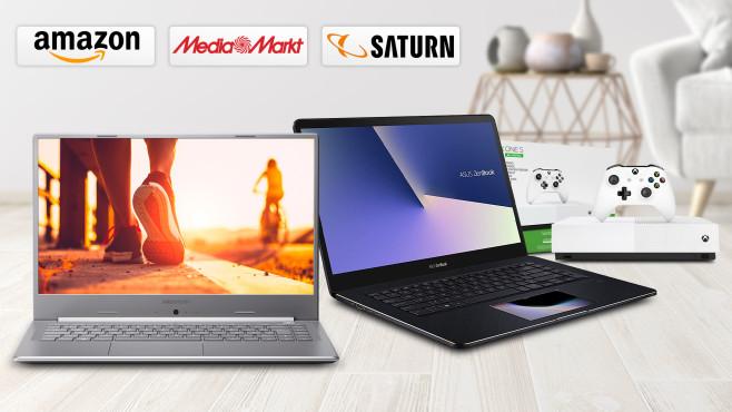 Amazon, Media Markt, Saturn: Die Top-Deals des Tages!©Saturn, Media Markt, Amazon, Asus, Medion, Microsoft, iStock.com/Scovad