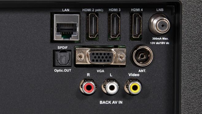 Medion X16500: Anschlüsse für Zuspieler©Medion