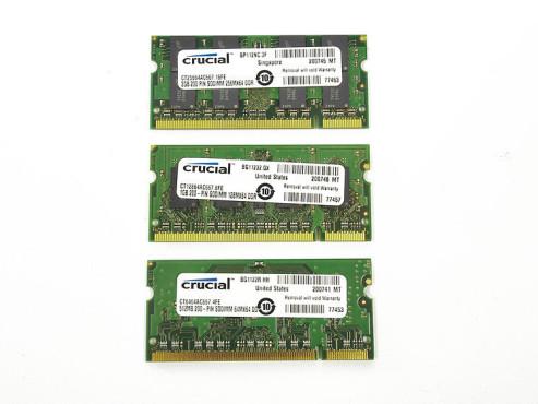DDR2-Speicher der Marke Crucial in Größen 512, 1024 und 2048 Megabyte ©COMPUTER BILD