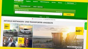 Europcar-Gutschein: 16 Euro Mietwagenrabatt erhalten©Screenshot www.europcar.de