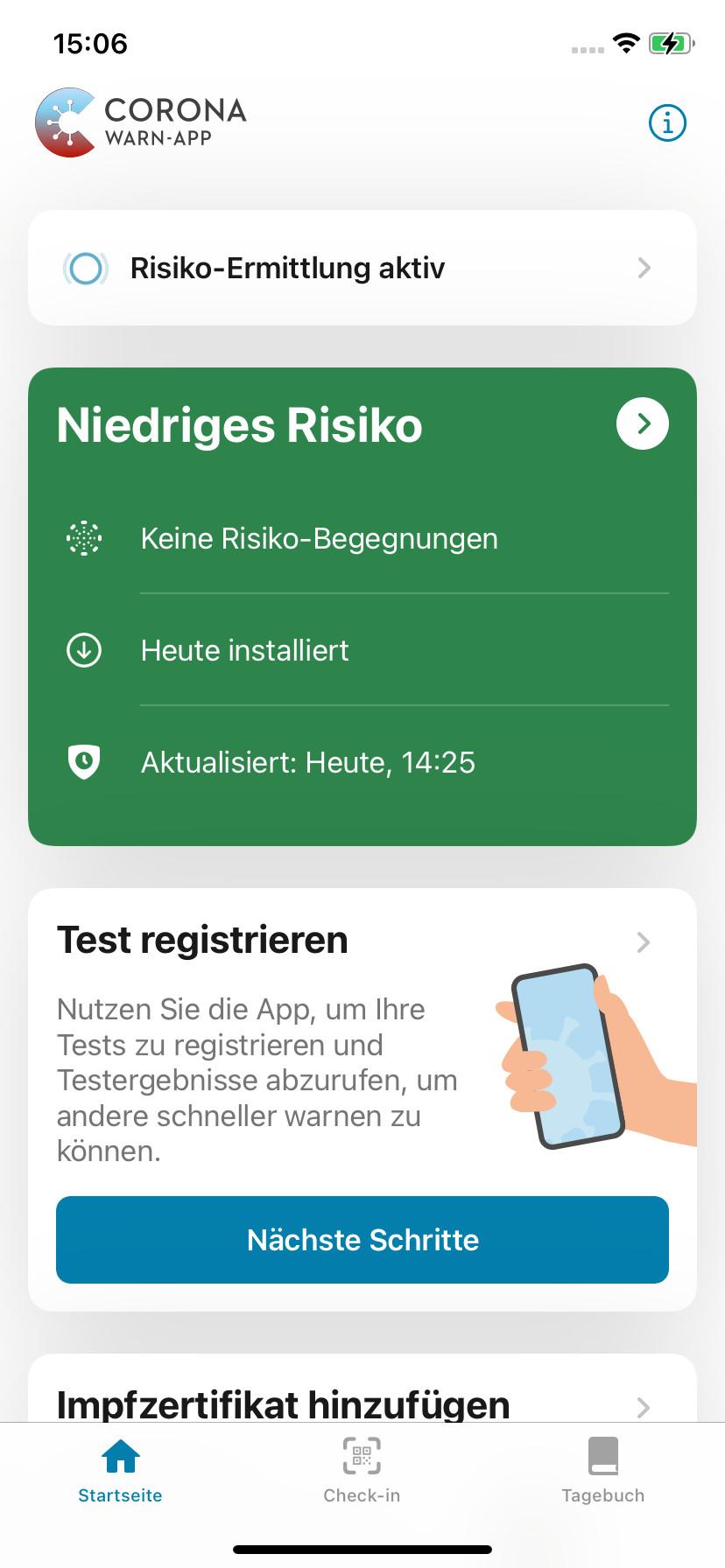 Screenshot 1 - Corona-Warn-App (App für iPhone & iPad)