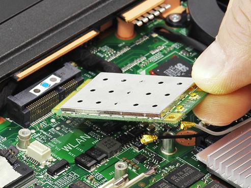 WLAN-Mini-PCI-Karte tauschen