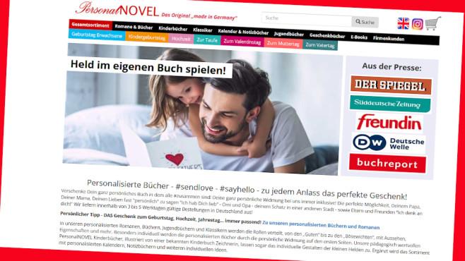 Online-Rabatt bei PersonalNovel©PR/Screenshot www.personalnovel.de