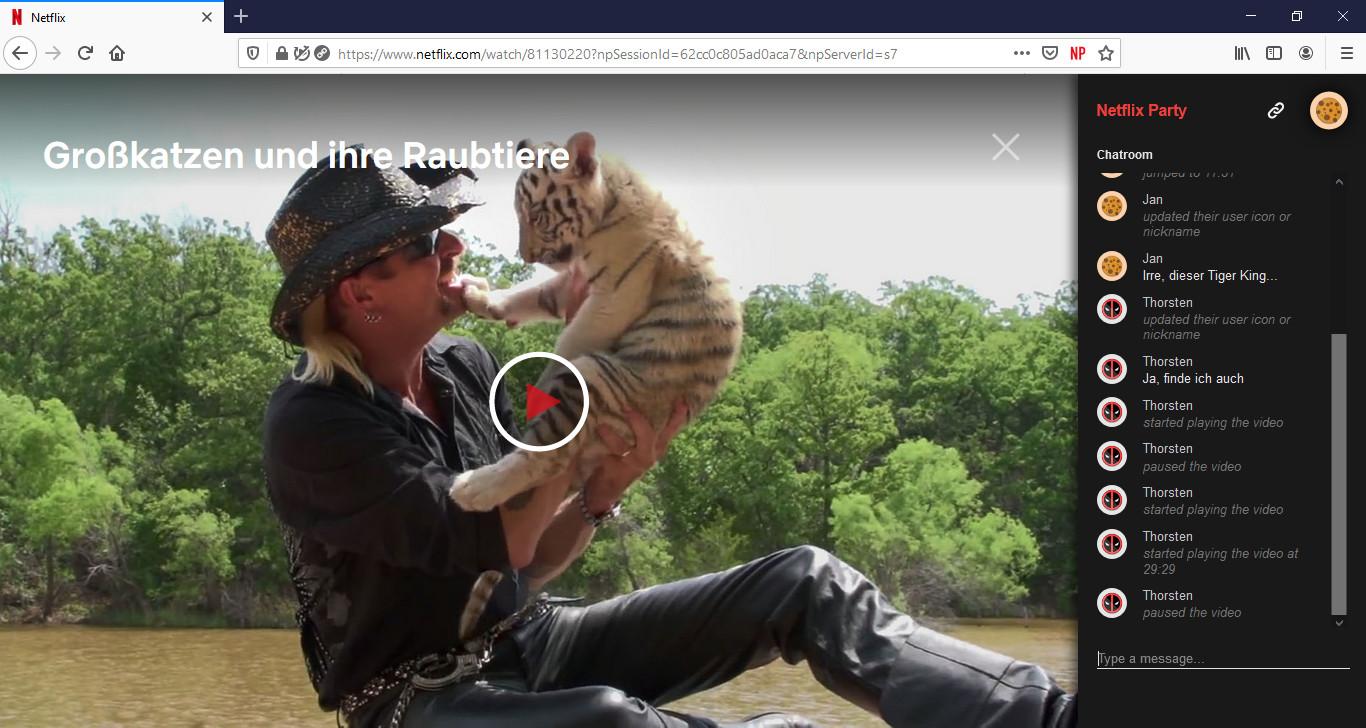 Screenshot 1 - Unofficial Netflix Party für Firefox