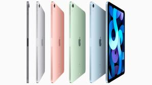 iPad Air (2020) in fünf Farben vor grauem Hintergrund©Apple