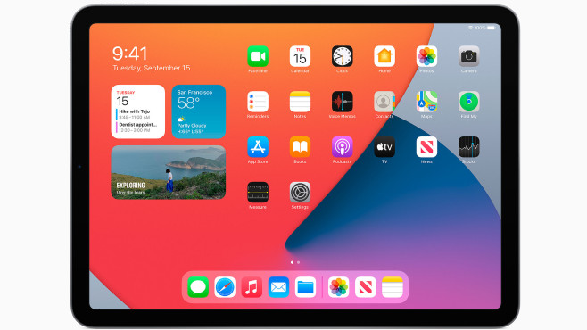 iPad Air (2020) vor grauem Hintergrund©Apple