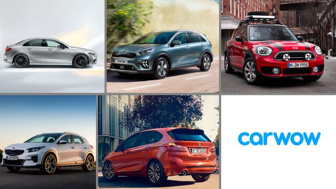 Plug-in-Hybride©Carwow, Cobi, Mercedes, Mini Cooper, BMW, Kia