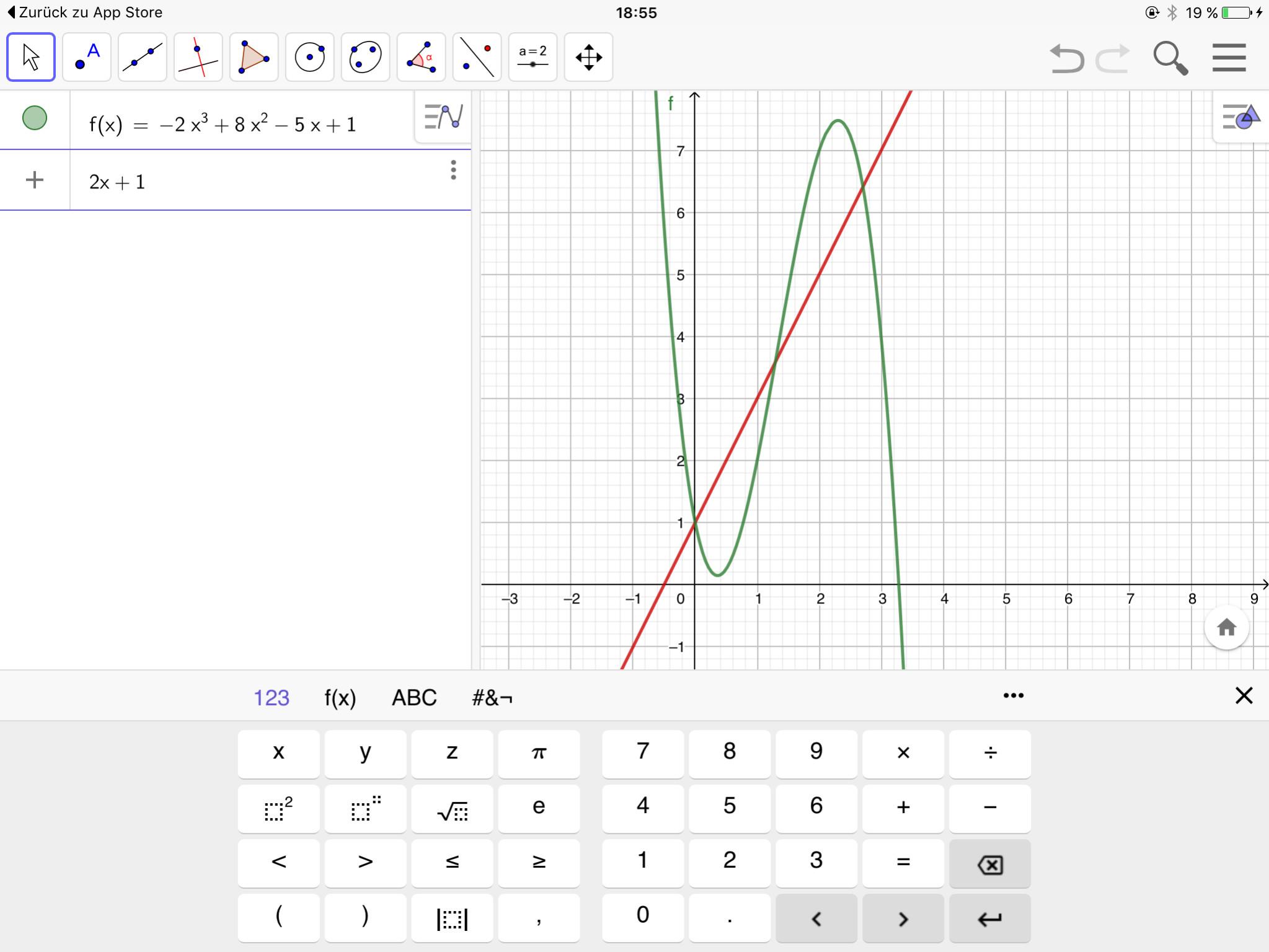 Screenshot 1 - GeoGebra Classic (iPad-App)