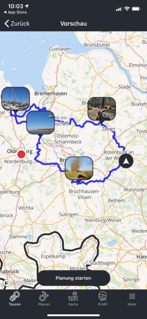 Calimoto Motorrad Offline Navi (iPhone-App)