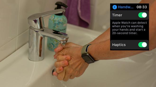 Apple Watch: Händewaschen©COMPUTER BILD