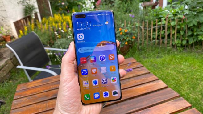 Huawei P40 Pro Plus: Homescreen mit App-Icons©COMPUTER BILD