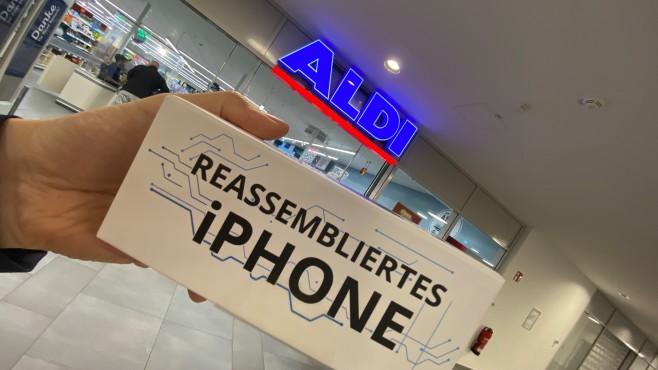 Reassembliertes Apple iPhone 8 bei Aldi©COMPUTER BILD