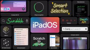 iPadOS-Schriftzug und Funktionen©Apple