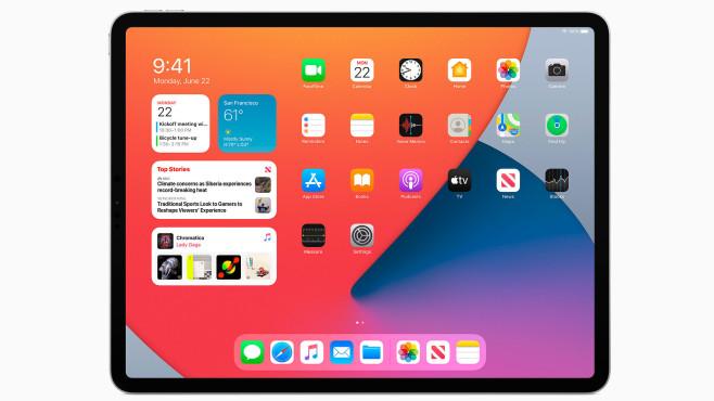 iPad Pro zeigt die neuen Widgets von iPadOS©Apple