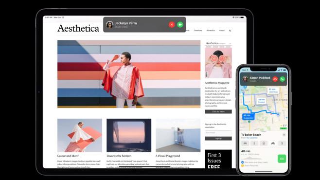 iPad und iPhone zeigen Anruf-Fenster©Apple