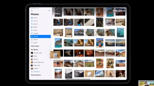 iPad zeigt die Apple Fotos App©Apple