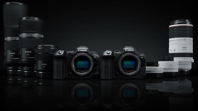 Canon EOS R5 EOS R6 und vier neue Objektive©Canon