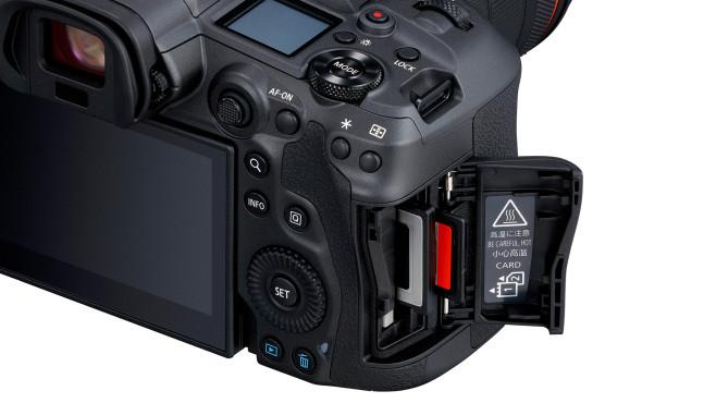 Canon EOS R5 mit Joystick und CFexpress©Canon