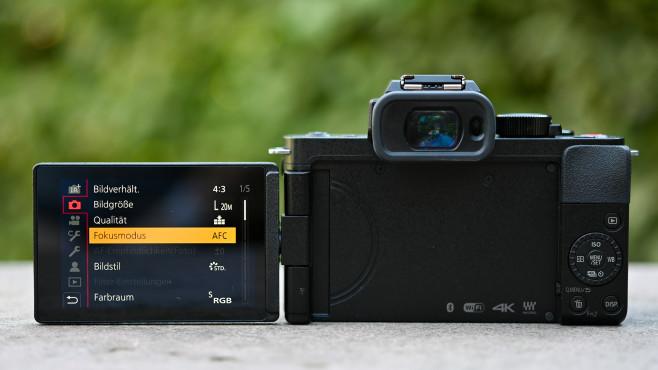 Sucher und Display der Panasonic Lumix G110©COMPUTER BILD