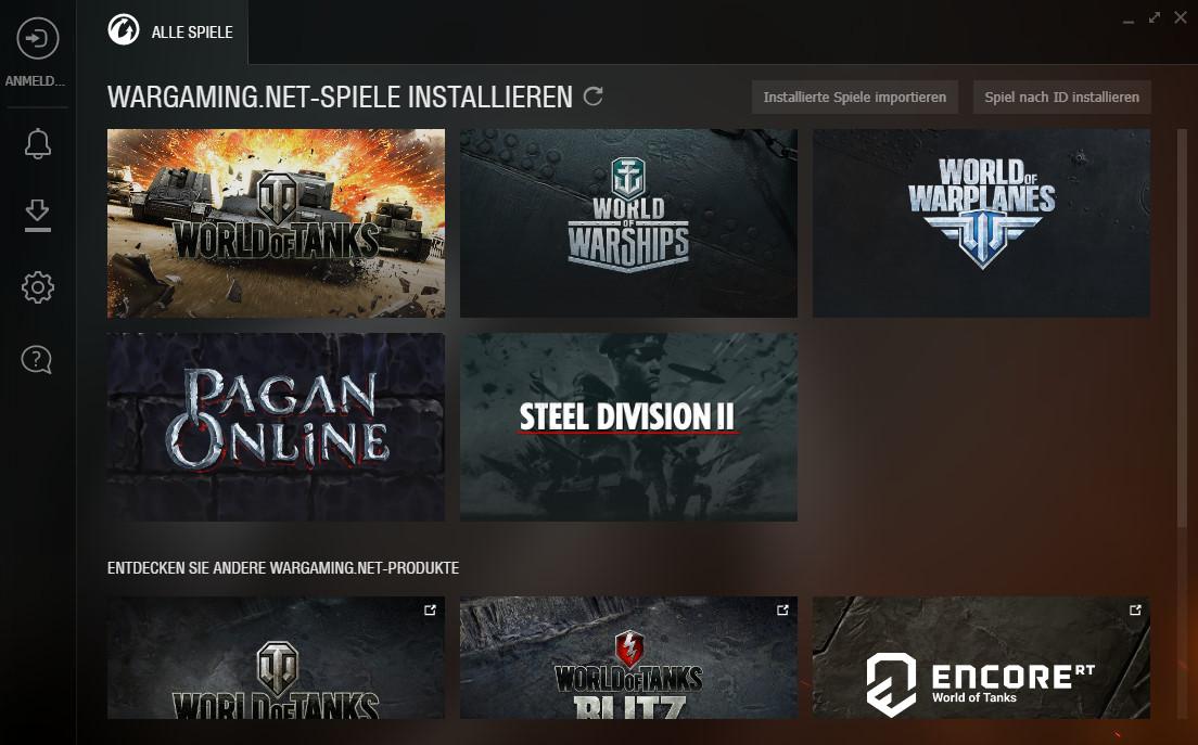 Screenshot 1 - Wargaming Game Center