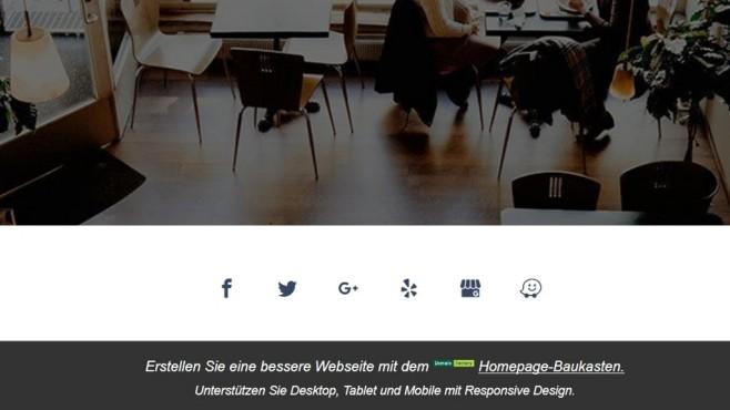 DomainFactory: Der Website-Baukasten im Praxistest Bei Websites von Basic-Kunden präsentiert die Fußzeile Werbung für DomainFactory©Computer Bild