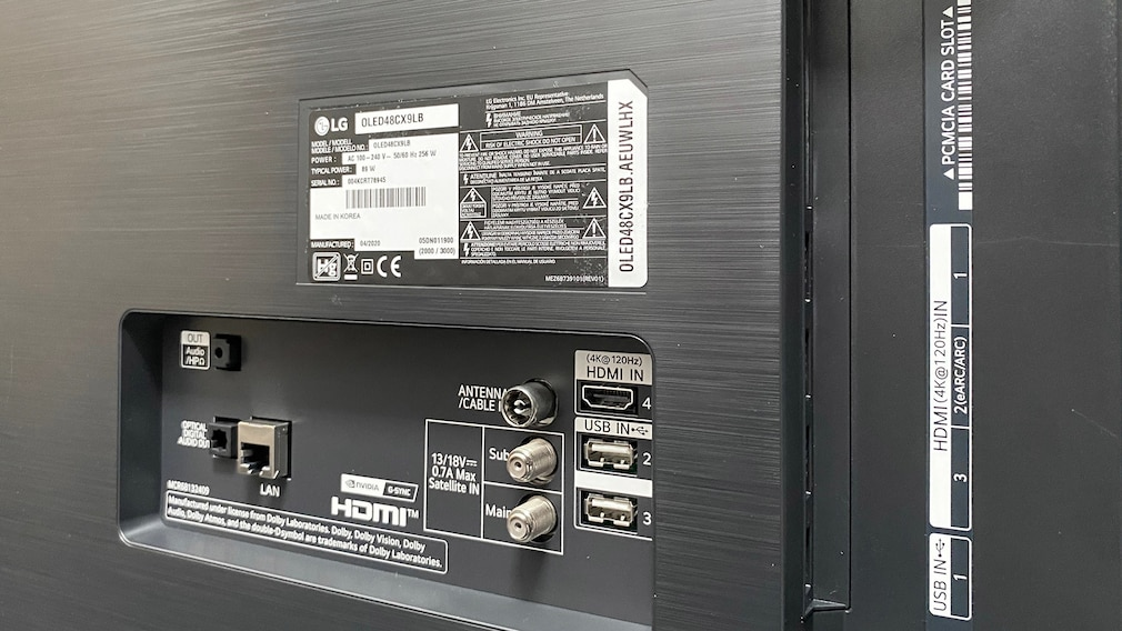 Anschlüsse des LG OLED 48CX