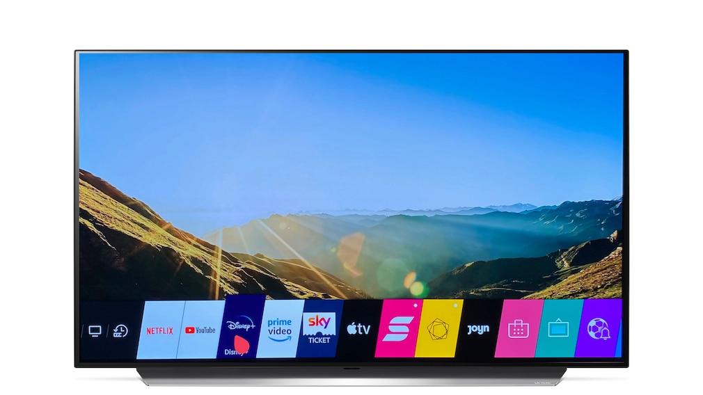 LG OLED 48CX: Menü mit den installierten Apps
