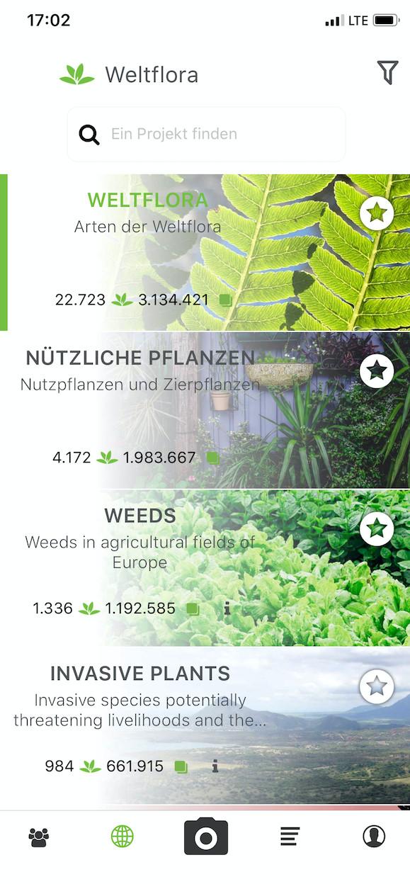 Screenshot 1 - PlantNet Pflanzenbestimmung (App für iPhone & iPad)